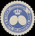Siegelmarke Correspondenz I.K.H. der regierenden Großherzogin von Baden W0356330.jpg