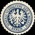 Siegelmarke General - Verwaltung der Königlichen Mussen - Berlin W0212153.jpg