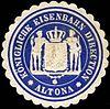 Siegelmarke Königliche Eisenbahn Direction - Altona W0212688.jpg