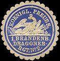 Siegelmarke K. Pr. 1. Brandenburger Dragoner-Regiment No. 2 W0285619.jpg