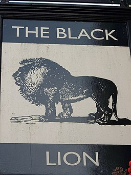 Sign for the Black Lion, Bridlington - geograph.org.uk - 645303