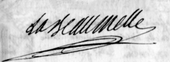 Signature de La Beaumelle