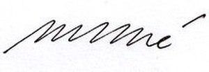 Michel Debré - Image: Signature Michel Debré