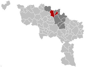 Silly, Belgium - Image: Silly Hainaut Belgium Map