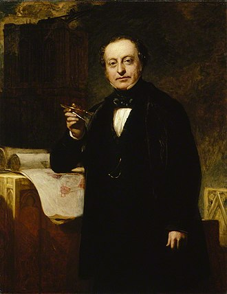 Palace of Westminster - Sir Charles Barry conceived the winning design for the New Houses of Parliament and supervised its construction until his death in 1860. (Portrait by John Prescott Knight)