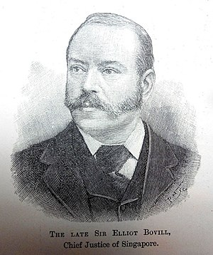 Elliot Bovill - Elliot Bovill, Chief Justice of Cyprus and the Straits Settlements