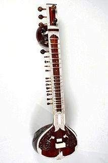Sitar Plucked stringed instrument used in Hindustani classical music