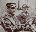 Sizaire et Naudin (au volant), lors du kilomètre de Dourdan (octobre 1906).jpg