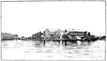 Rodd Island-History-Sketch of the Australian Pasteur Institute, Rodd Island, Sydney, ca. 1890