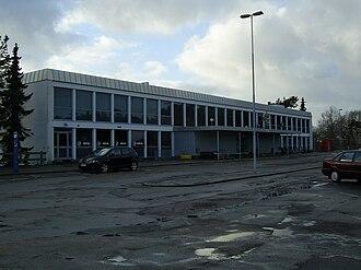 Skive, Denmark - Front façade of Skive railway station.