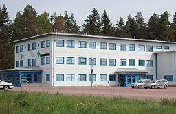 Skovledelsens kontorbygning i Gräsdalen.