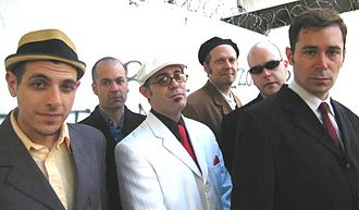 The Slackers - L to R: Vic Ruggiero, Ara Babajian, Marcus Geard, Dave Hillyard, Jay Nugent, Glen Pine