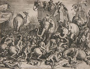 Battle of Zama - The Battle of Zama by Cornelis Cort, 1567