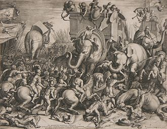 Battle of Zama - The Battle of Zama by Cornelis Cort, 1567.