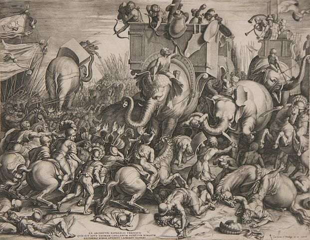 Корнелис Корт. «Битва при Заме» (1567)