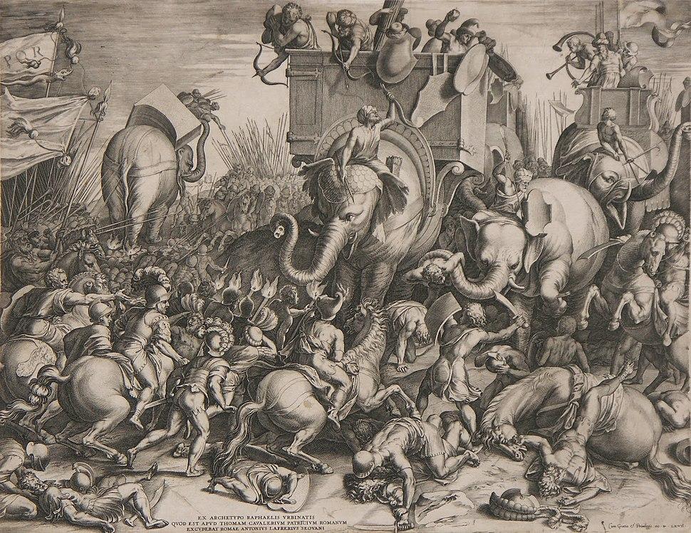 Slaget ved Zama - Cornelis Cort, 1567