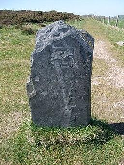 Slate signpost, Moel Arthur - geograph.org.uk - 1317625