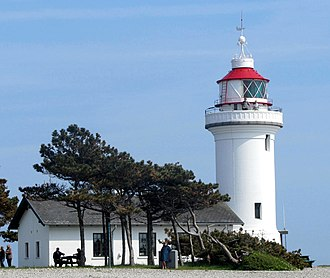 Sletterhage Lighthouse - Sletterhage Lighthouse seen from west