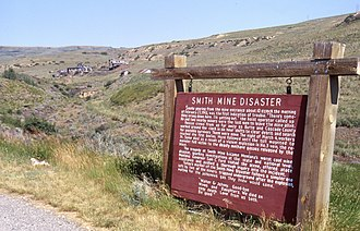 Red Lodge, Montana - Site of the Smith Mine disaster