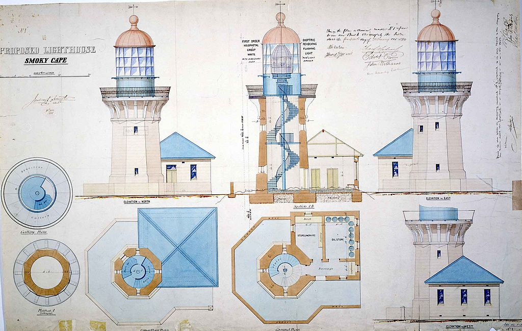 File Smoky Cape Light Lighthouse Plans 1888 Jpg