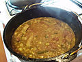 Smothered pork roast and gravy in black pot HRoe 2012.jpg