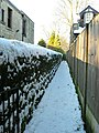 Snowy footpath on Christmas Day - geograph.org.uk - 1763058.jpg