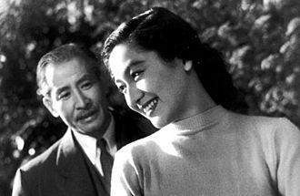 So Yamamura - So Yamamura and Setsuko Hara from the 1954 Japanese film Sound of the Mountain