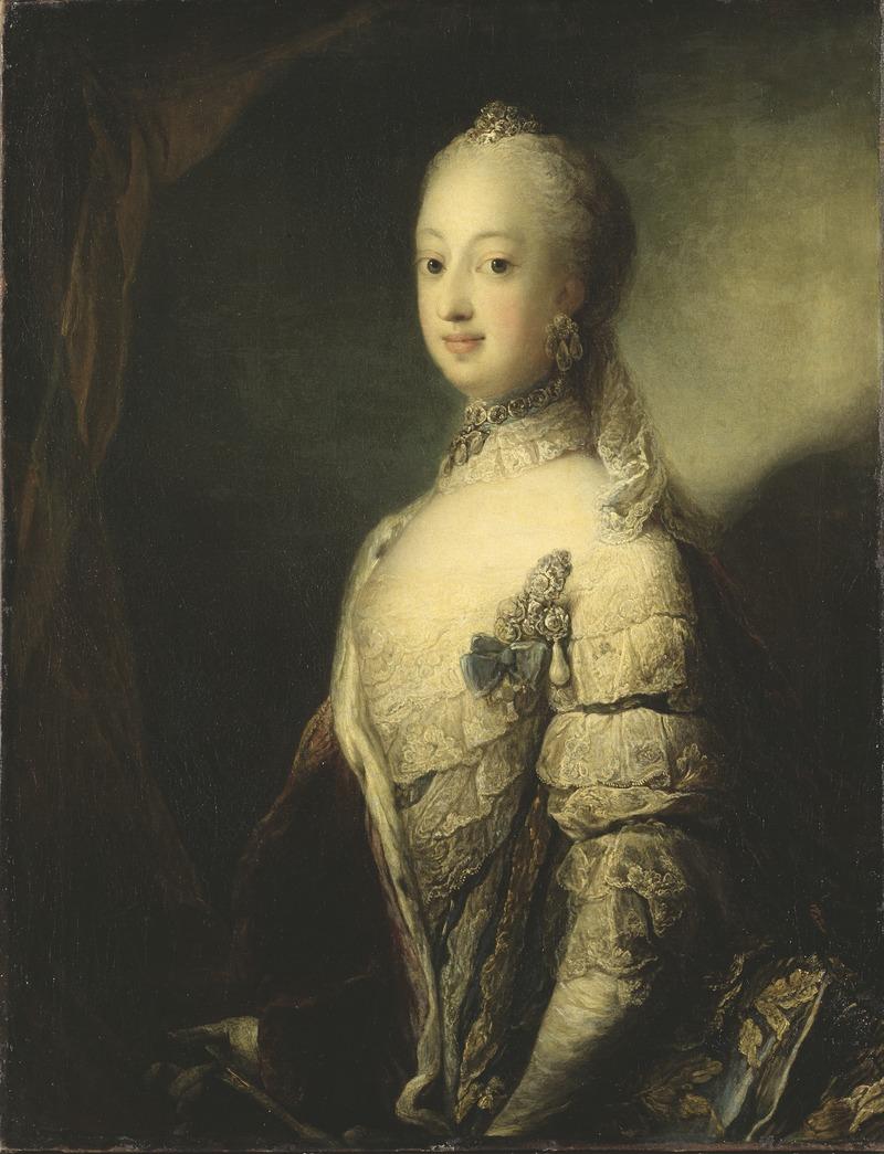 Carl Gustaf Pilon maalaama Sofia Magdalenan muotokuva noin vuodelta 1765.