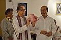 Somendranath Bandyopadhyay Releasing Booklet - Biswatosh Sengupta Solo Exhibition Inauguration - Kolkata 2015-07-28 3244.JPG
