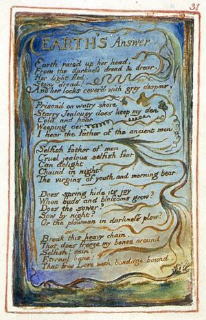 Earth's Answer - Image: Songs of Innocence and of Experience, copy Z, 1826 (Library of Congress) object 31 Earth's Answer