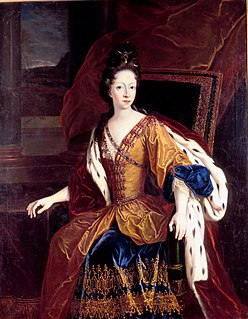 Danish princess, daughter of King Christian V