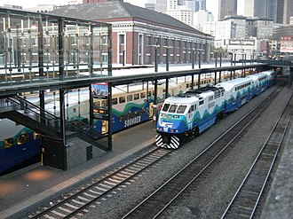 King Street Station - A Sounder train at the station