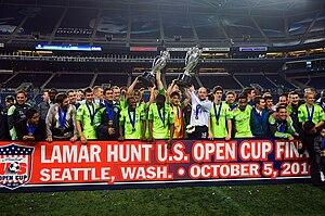 2010 Lamar Hunt U.S. Open Cup Final - Image: Sounders US Open Cup 2010