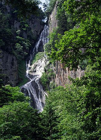 Hokkaido - Sōunkyō, a gorge in the Daisetsu-zan Volcanic Area.