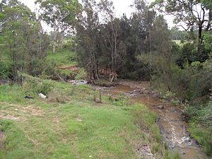 South Creek (New South Wales) - Viewed from Luddenham Road, Orchard Hills, 2013.