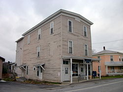 U.S. Post Office (Dew Drop Building), South Otselic, November 2010