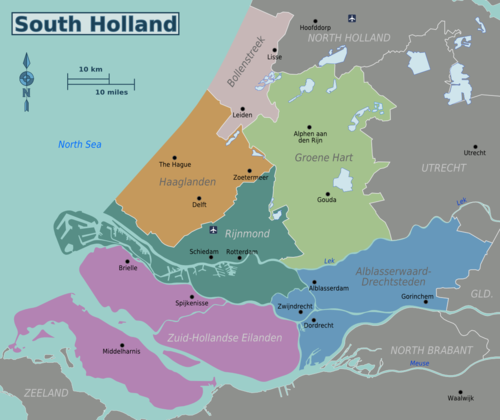 Die Reiseregionen in Zuid-Holland