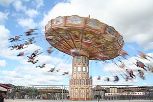 English: Spinning around Carousel at Lightwate...