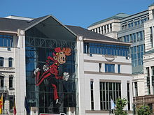 Spirou at Place Sainctelette, Brussels.JPG