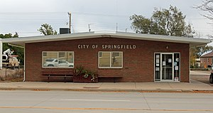 Springfield, Colorado - Springfield's town hall in 2015.