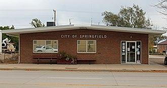 Springfield, Colorado - Springfield's town hall in 2015.