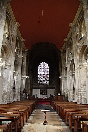 Thorney Abbey - Interior of the Abbey, looking east