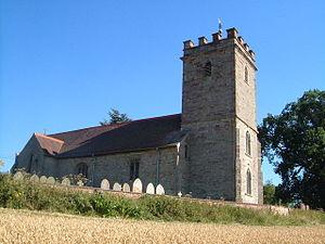 Bayton - Image: St Bartholomew's church, Bayton