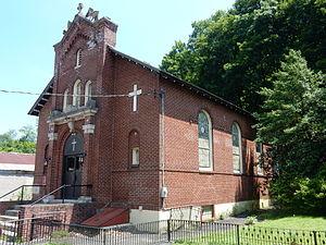 Mount Carbon, Pennsylvania - St. Francis De Sales Church on Main St.
