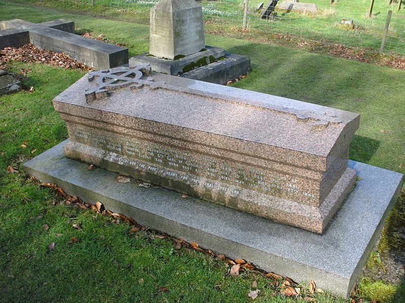 File:St Peter's Churchyard, Edensor - grave of William Cavendish, 7th Duke of Devonshire.JPG