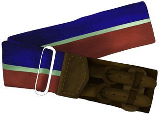 Stable belt - Clip art of a pre-2007 Stable Belt of the Royal Air Force. Newer versions feature a decorative buckle instead of the leather buckle.