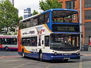 Stagecoach Manchester - Alexander ALX400 bodied Dennis Trident 2 on route 101 in July 2008