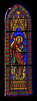 Stained glass window of the Saint John the Baptist Church in L'Union 02.jpg