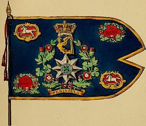 4th Royal Irish Dragoon Guards - Regimental standard, 1839