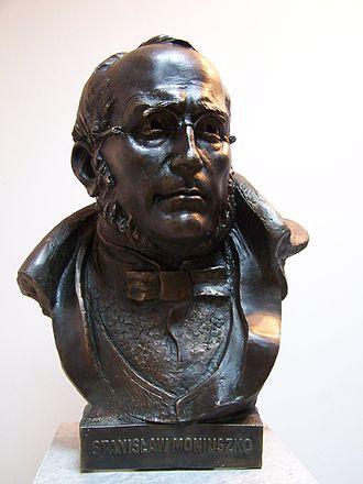 Stanisław Moniuszko - Stanisław Moniuszko bust in Gdańsk sculpture by Giennadij Jerszow